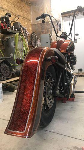 softail street sweeper fender