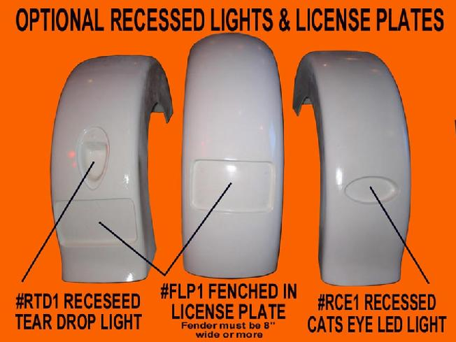 frenched in recessed light for motorcycle fenders